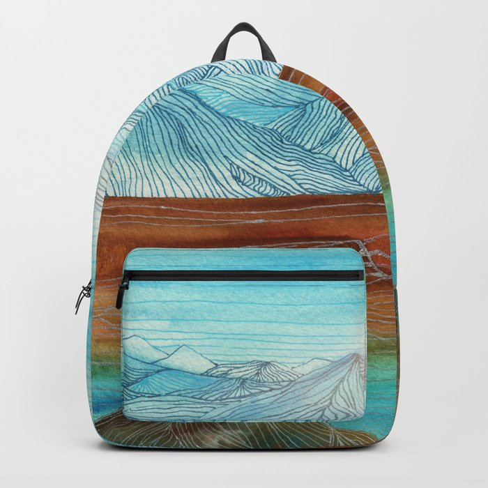 Lines in the mountains XI Backpack