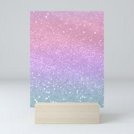 Unicorn Princess Glitter #1 #pastel #decor #art #society6 Mini Art Print