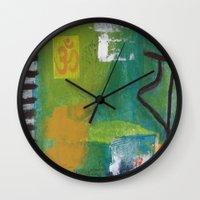yoga Wall Clocks featuring YOGA by Prema Designs