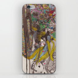 Alice in Wonderland - Strange Dreams / Original A4 Illustration / Ink & Watercolor iPhone Skin
