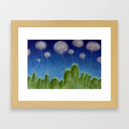 Hills and Clouds Framed Art Print