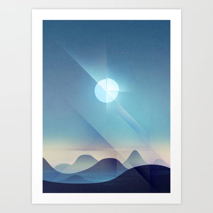 Northern Lights Abstract Art Print
