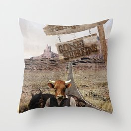 Gone SURFING Throw Pillow