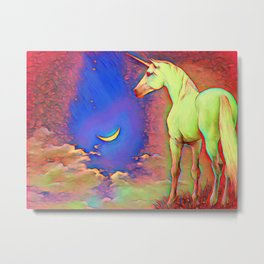 Mystic Unicorn Metal Print