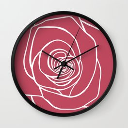 French Rose Drawing Wall Clock