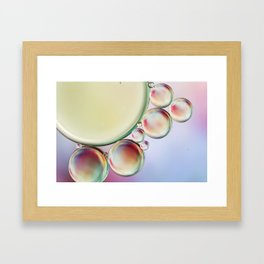 Bubble Abstract with a hint of Pink Framed Art Print