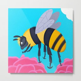 Shrill Carder Bee Metal Print