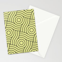 Circle Swirl Pattern VA Lime Green - Lime Mousse - Bright Cactus Green - Celery Stationery Cards