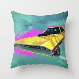 1970 Dodge Challenger Drift Throw Pillow