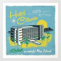 HOTEL CITROEN Art Print