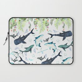 floral shark pattern Laptop Sleeve