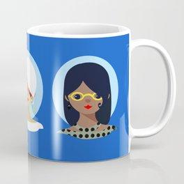 Girls- Triple Threat (Beauty, brains, and board games) Coffee Mug