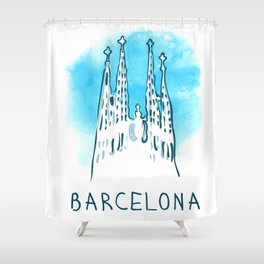 Barcelona 02 Shower Curtain