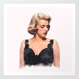 Rosemary Clooney - White Christmas - Watercolor #1 Art Print