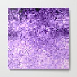 LavendeR Purple Pixels Metal Print