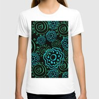 mod T-shirts featuring mod flowers by Sylvia Cook Photography
