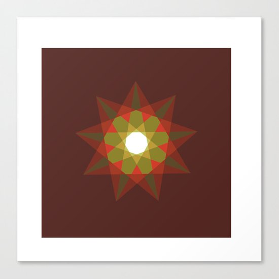 #351 Nine-sided christmas star – Geometry Daily Canvas Print