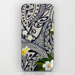 Traditional Hawaiian Tapa and Plumeria iPhone Skin