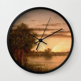 Martin Johnson Heade - Florida Sunrise Wall Clock