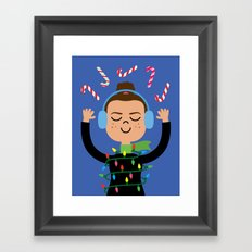 Holiday with Candy Framed Art Print
