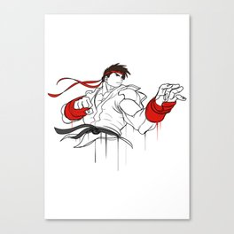 street fighter ryu character  fan art by me Canvas Print