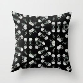 Skull Eclipse Throw Pillow