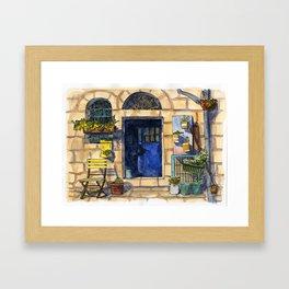 Blue Door - Jerusalem Street Framed Art Print
