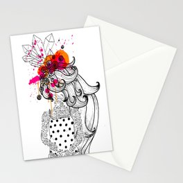the tattooed girl Stationery Cards