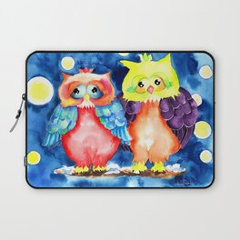 Two owls and a starry night Laptop Sleeve