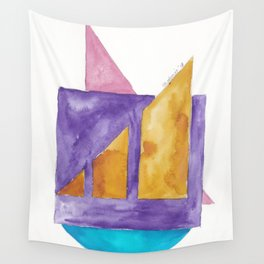 180818 Geometrical Watercolour 2| Colorful Abstract | Modern Watercolor Art Wall Tapestry