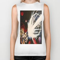 dbz Biker Tanks featuring DBZ Galaxy by DrewzDesignz