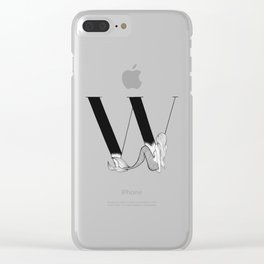 Mermaid Alphabet Series - W Clear iPhone Case