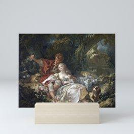 François Boucher Shepherd and Shepherdess Mini Art Print