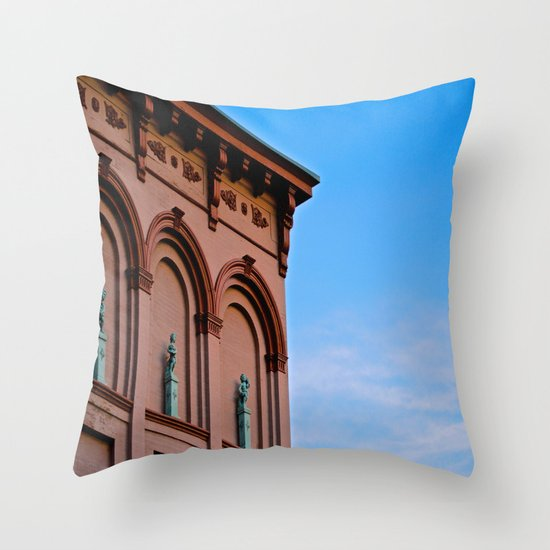 Cherubs on the Ledge Throw Pillow