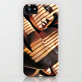 2686s-JG Beautiful Jessica Striped by Sunlight Through Window Blinds iPhone Case