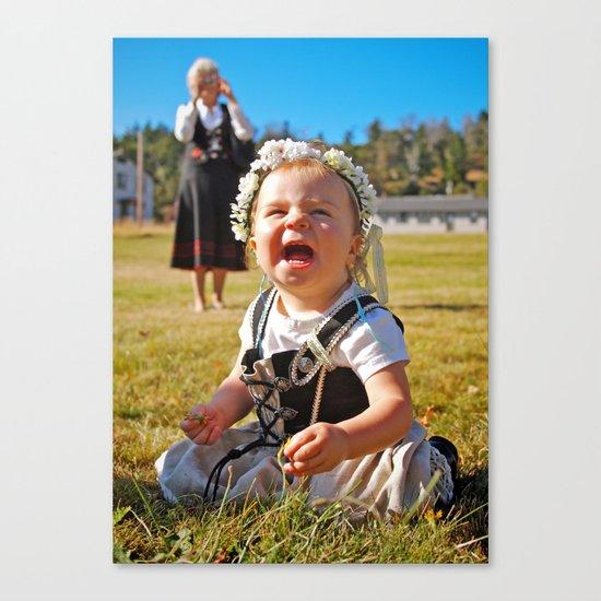 Happy baby Canvas Print
