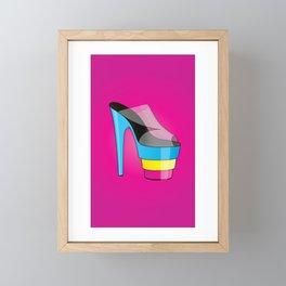 The CMYK High-Heel Stiletto Framed Mini Art Print