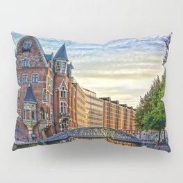 Hamburg Architecture Pillow Sham