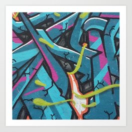 Abstrato Mout-Graffiti Art Print
