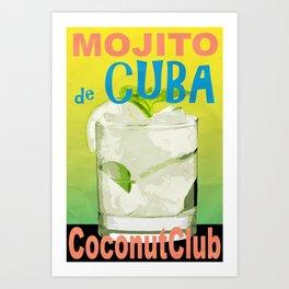Mojito de Cuba Art Print