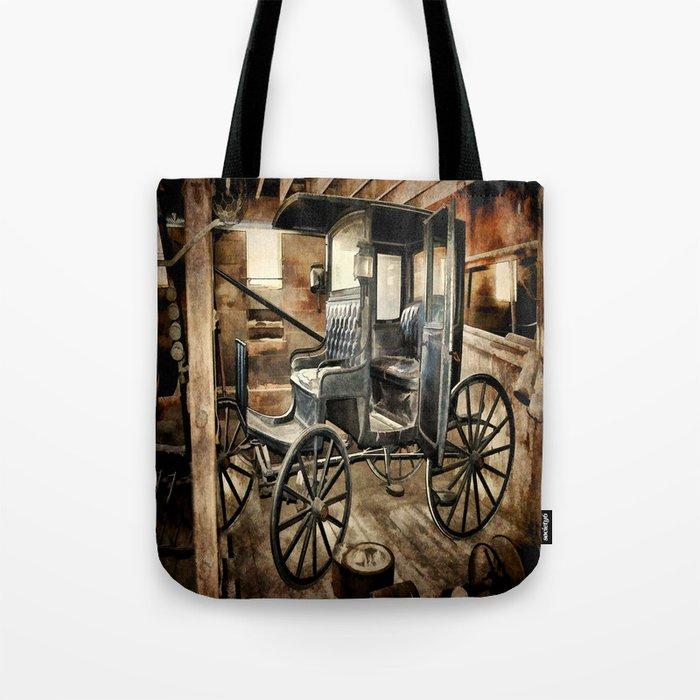 Vintage Horse Drawn Carriage Tote Bag