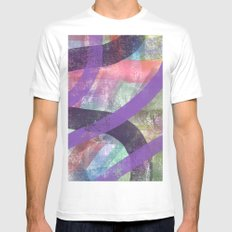 abstract color lines of seasons White MEDIUM Mens Fitted Tee