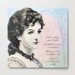 Poetry Girls: Wildflower Girl Metal Print