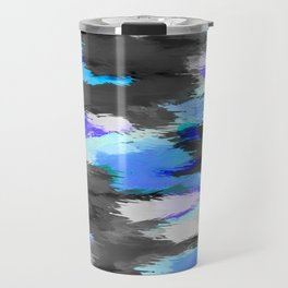 purple blue and black painting texture abstract background Travel Mug