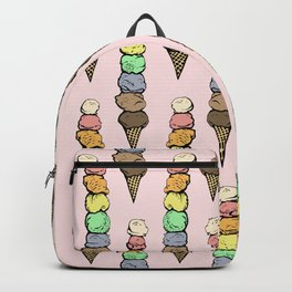 Giant Rainbow Ice Cream Cones Backpack