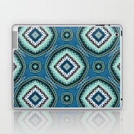 Diamond Pattern in Teal and Green Laptop & iPad Skin