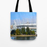 vancouver Tote Bags featuring Vancouver by CarienMoore