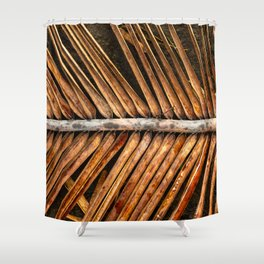 Dried Coconut Palm Shower Curtain