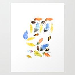Plume Rough Art Print