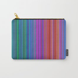 Abstract rainbow dots and lines Carry-All Pouch